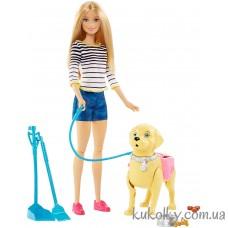 Кукла Барби прогулка с собакой и уход за ней в наличии 2017