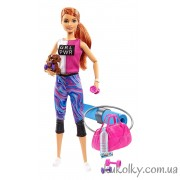 Барби Фитнес со щенком и подушкой