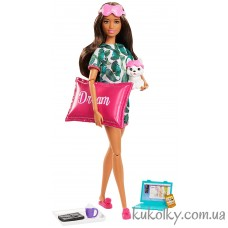 Кукла Барби Релакс со щенком и подушкой (Barbie Relaxation Doll, Brunette, with Puppy)
