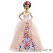 Кукла Барби мексиканка Диа де Муертос в белом