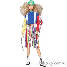 Кукла Барби кучерявые волосы БМР1959 (Curly Blonde Hair in Color Block Sweatshirt BMR1959 Collection Barbie Millicent Roberts)