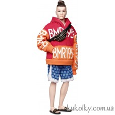 Кукла Кен БМР1959 с гулькой (BMR1959 Collection Barbie Millicent Roberts Bold logo hoodie)