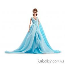 Кукла Барби силкстоун в голубом платье (Collection Blue Chiffon Ball Gown Silkstone Barbie Doll)
