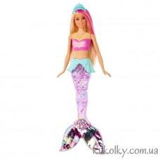 Кукла Барби Сияющие Яркие огоньки с паетками на хвосте (Barbie Dreamtopia Sparkle Lights Mermaid)