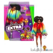 Кукла Барби Экстра афроамериканка №1 (Barbie Extra Doll #1 in Rainbow Coat with Pet Poodle)