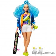 Кукла со скейтбордом Барби Экстра №4
