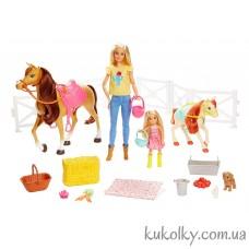 Набор Барби и Челси Верховая езда и объятия с лошадьми (Barbie Hug n Dolls Horses and Accessories)