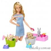 Барби играй и купай питомцев
