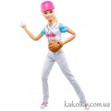 Кукла Барби двигайся как я Бейсболистка блондинка