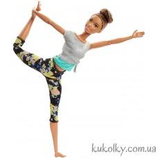 Кукла Барби Брюнетка йога с гулькой