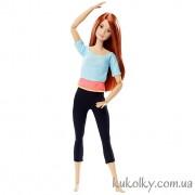 Барби йога рыженькая Синий топ