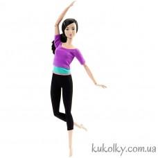 Кукла Барби йога азиатка в фиолетовом топе