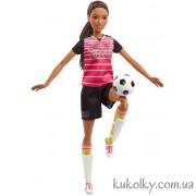 Барби двигайся как я футболистка с темно-коричневыми волосами