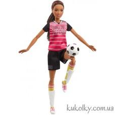 Кукла Барби двигайся как я мулатка футболистка с коричневыми волосами