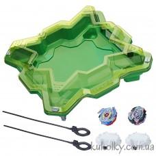 Бейблейд зеленая Арена с волчками Волтраек V3 и Сатомб S3 (Beyblade Burst Evolution Star Storm Battle Set Hasbro)