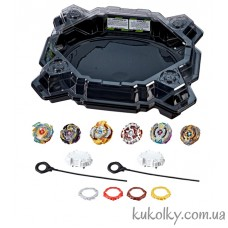 Бейблейд черная Арена с блейдами (2018 Beyblade Burst Evolution Ultimate Tournament Collection Tops and Beystadium)