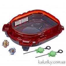Арена Слингшок красная и бейблэйды Хасбро (Beyblade Turbo Slingshock Wonder Valtryek V4 and Z Achilles A4 Hasbro)