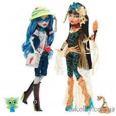 Кукла Monster High SDCC Cleo De Nile and Ghoulia Yelps 2-Pack Comic Con Exclusive