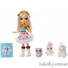 Игровой набор сова Одель и семья полярных сов (Enchantimals Odele Owl Small Doll Mattel)