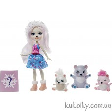 Игровой набор Пристина и семья белой медведицы (Enchantimals Pristina Polar Bear)