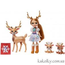 Игровой набор Рейни Олень и семья оленей (Enchantimals Rainey Reindeer)