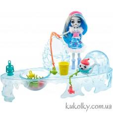 кукла Энчантималс Саша тюлень и зимняя рыбалка с тюленями (Fishing Friends Ice Fishing Playset with Sashay Seal)