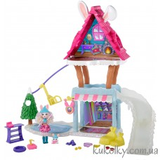 Игровой набор Беви и дом шале зимнего кролика (Hoppin' Ski Chalet with Bevy Bunny)