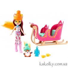 кукла Энчантималс Зимние сани и кукла Фелисити (Enchantimals Snowtastic Sled Set with Felicity Fox Small Doll)