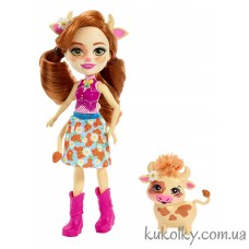 Кукла Энчантималс Коровка Кейли и корова питомец Кардл (Enchantimals Cailey Cow Doll & Curdle Figure)