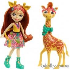 Кукла Энчантималс Жираф Джиллиан и питомец Павл (Gillian Giraffe with Pawl)