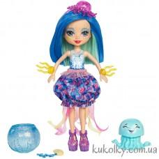 Кукла Энчантималс Медуза Джесса и питомец Мариса (Jessa Jellyfish with Hoofette)