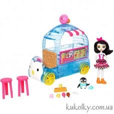 Игровой набор Пингвин Прина и Фургончик мороженого Энчантималс (Wheel Frozen Treats Preena Penguint)