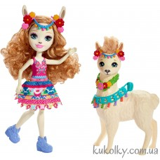 Кукла Энчантималс Лама Ллуэла и Флиси (Lluella Llama Doll & Fleecy)