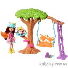 Игровой набор Качели на дереве лисичка Фелисити Фокс Энчантималс (Enchantimals Playground Adventures Playset with Felicity Fox)