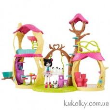 Игровой набор Энчантималс Панда и лесной домик