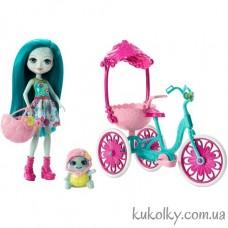 Игровой набор Энчантималс Черепашка и велосипед