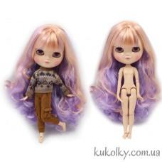 Кукла Айси с длинными фиолетово-розовыми волосами без челки (ICY - сестра Блайз)