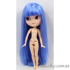 Кукла Айси с длинными синими ровными волосами с челкой (ICY - сестра Блайз)