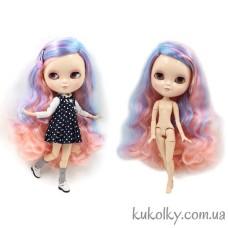 Кукла Айси с длинными розово-голубыми волосами без челки (ICY - сестра Блайз)