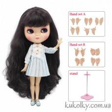 Кукла Айси с длинными баклажановыми волосами с челкой (ICY - сестра Блайз)