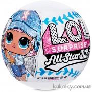 Бейсбол Спаркли ЛОЛ шар голубой