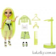 Лимонная кукла Рейнбоу Хай Карма Никольс (Rainbow High Karma Nichols Fashion Doll MGA)