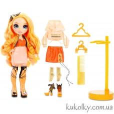 Оранжевая кукла Рейнбоу Хай Поппи Роуэн (Rainbow High Poppy Rowan Orange Fashion Doll MGA)