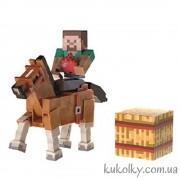 Фигурка Майнкрафт Стив и коричневая лошадь
