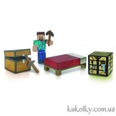 Стив набор для выживания Майнкрафт (Minecraft Survival Pack Steve Action Figure)