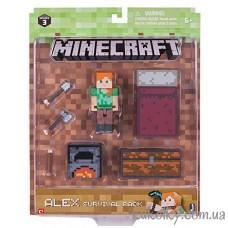 Алекс набор для выживания Майнкрафт (Minecraft Survival Pack Alex Action Figure)