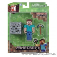 Стив с киркой фигурка Майнкрафт (Minecraft Core Steve Action Figure)
