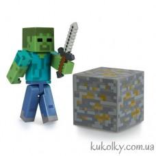 Зомби фигурка Майнкрафт (Minecraft Core Zombie Action Figure)