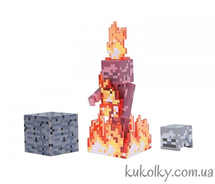 0b61ddc26623e Скелет в огне Майнкрафт (Minecraft Skeleton on Fire Action Figure Pack)