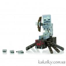 Скелет-наездник и паук Майнкрафт (Minecraft Spider Jockey Pack Action Figure)